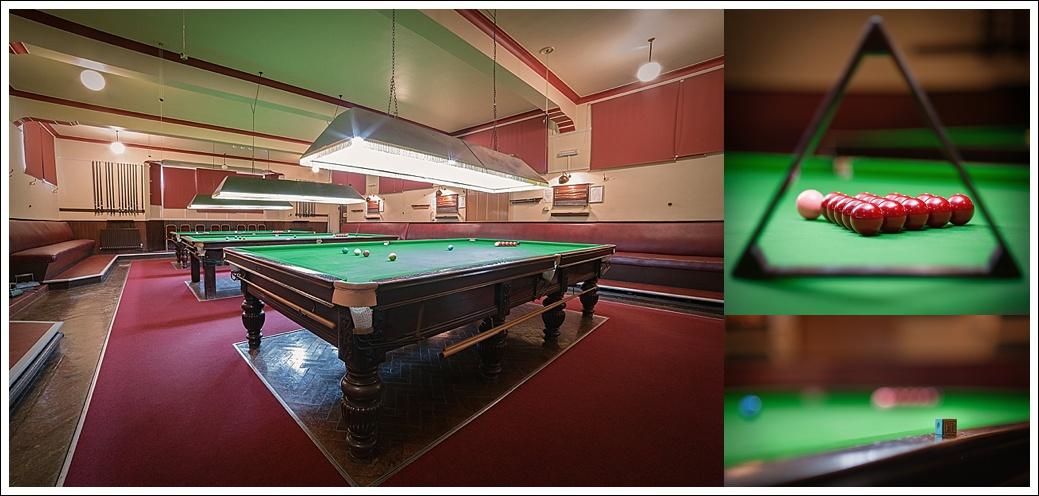 Gentleman's snooker club, Billiards room