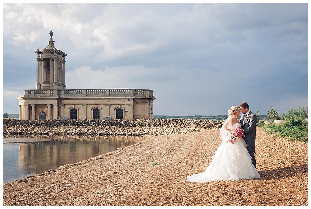 Normanton Church, Rutland Water, Bride and Groom