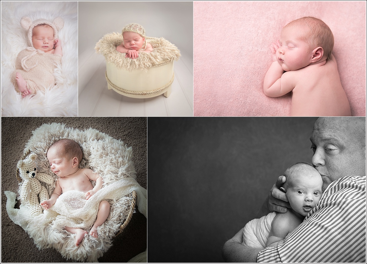 A selection of newborn baby photography