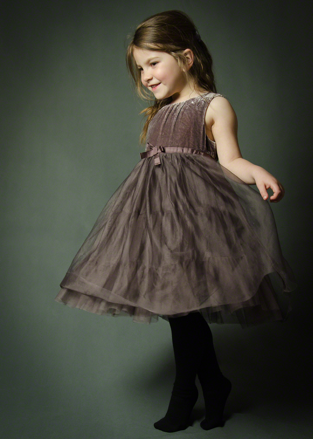 Little girl in party dress