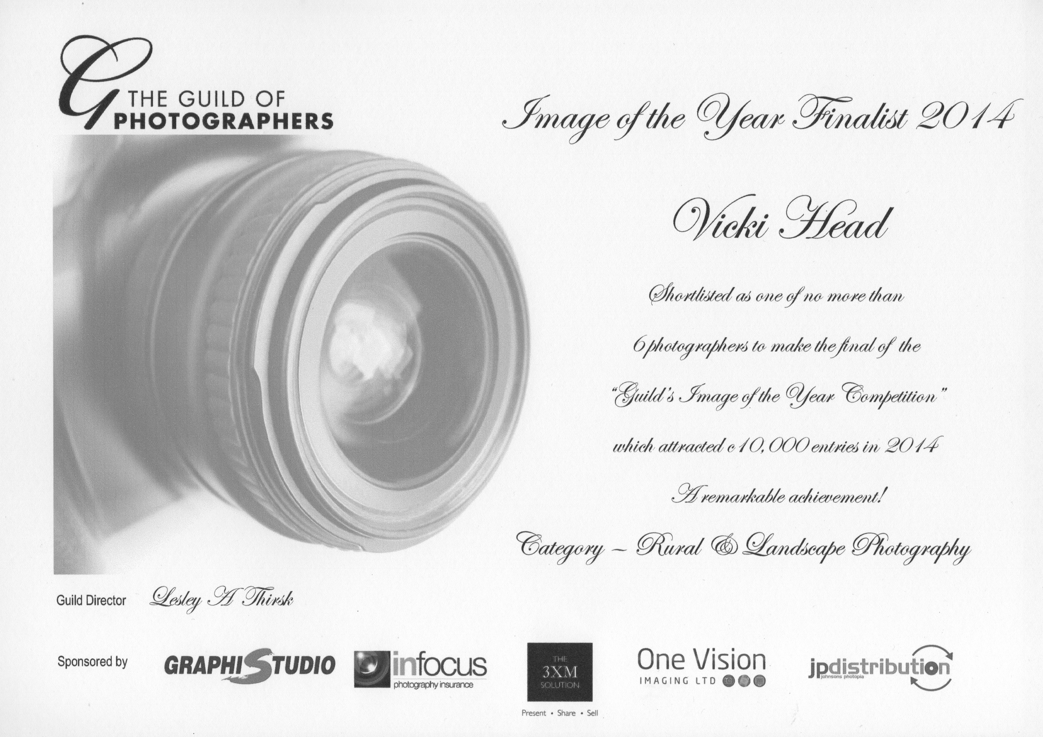 Vicki Head Guild award. Image of the year