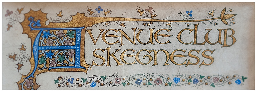 Avenue Club Skegness, embroidered name