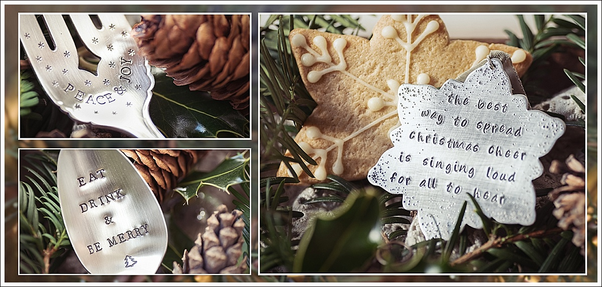 Vicki Head Photography, Commercial Photography, Product Photography, Stamped cutlery and decorations, Christmas theme