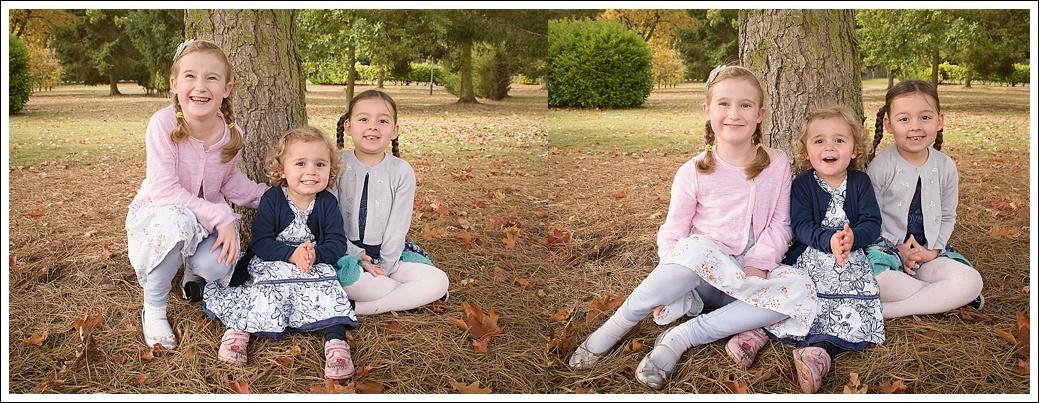 Children outside in autumn