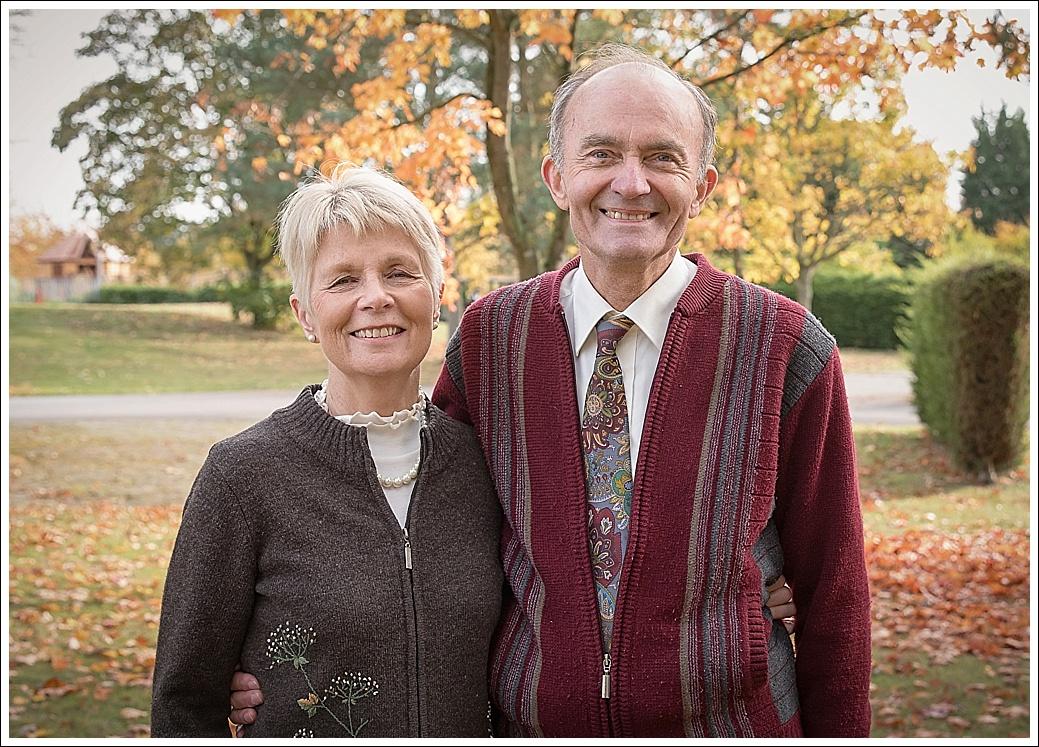 Couple in autumn location shoot