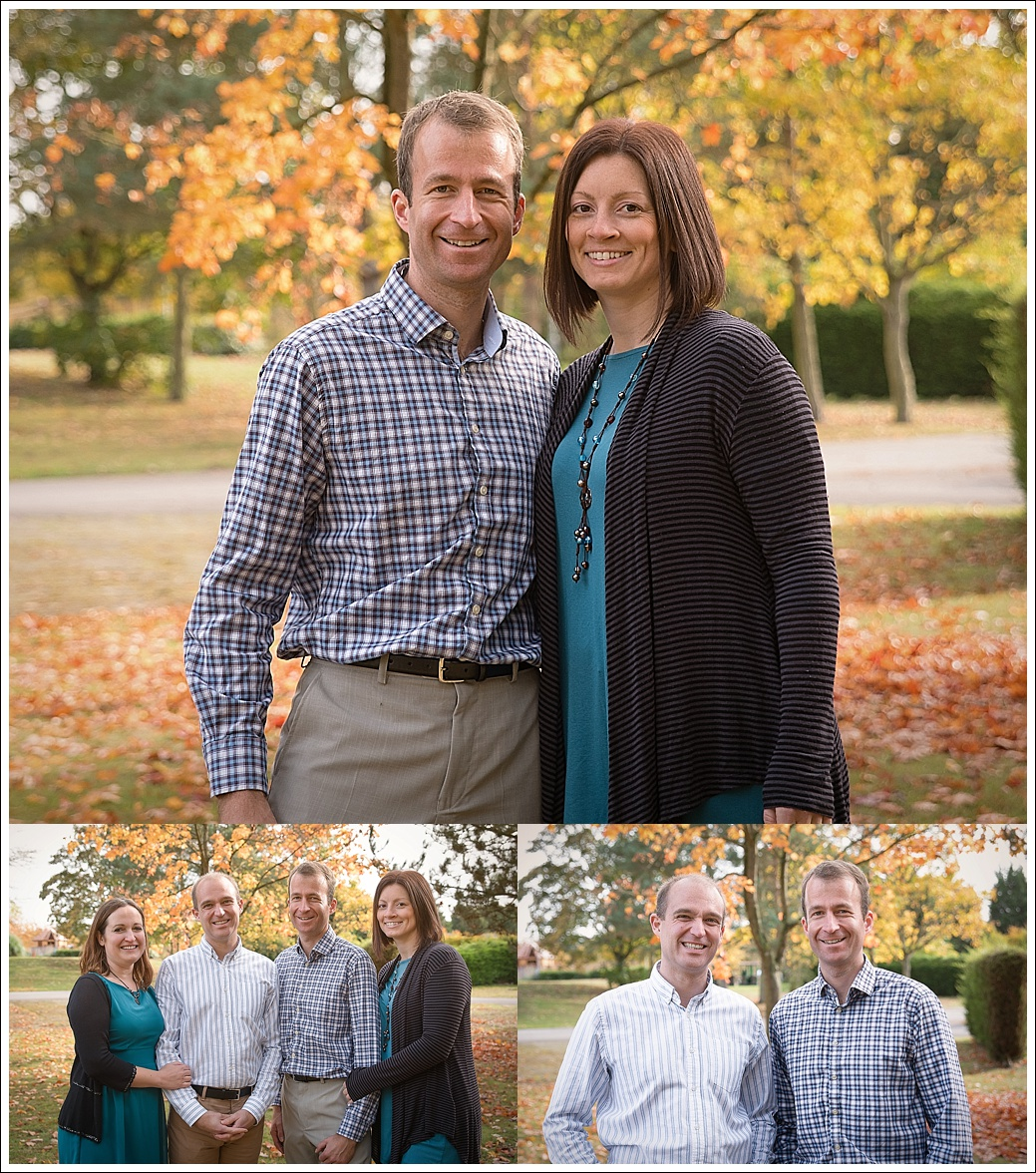 Family photography outdoors in autumn