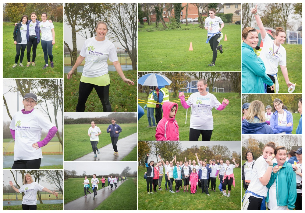 Erica Carter's running group doing their first park run in Aylesbury