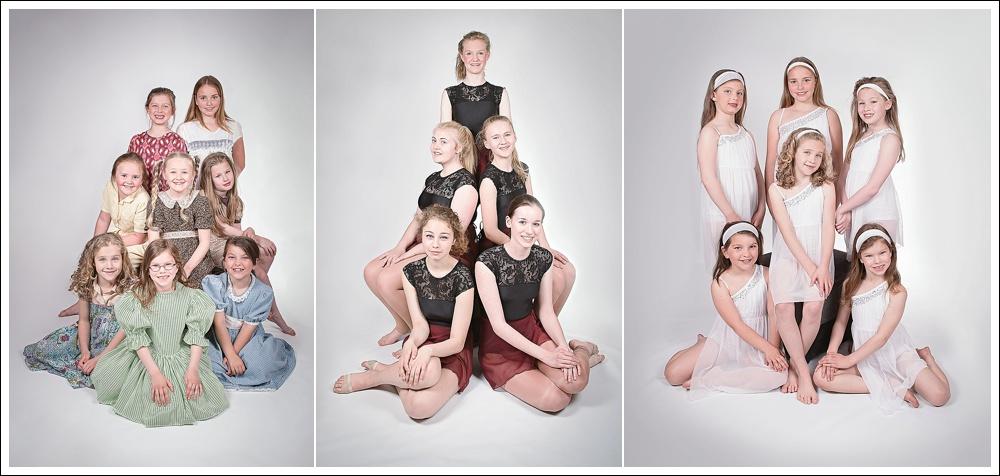 Studio photograph of dancers