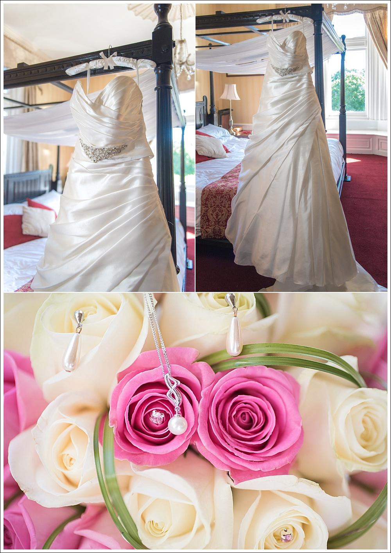 Bridal preparation, wedding dress