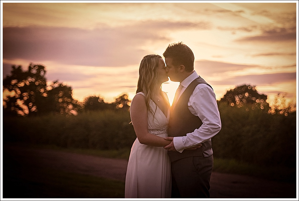 Lincolnshire wedding, sunset