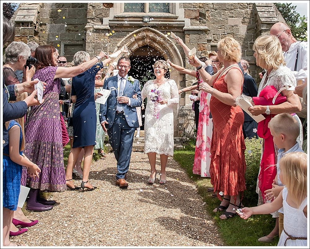 St Margaret's Church Thimbleby, Bride and Groom confetti