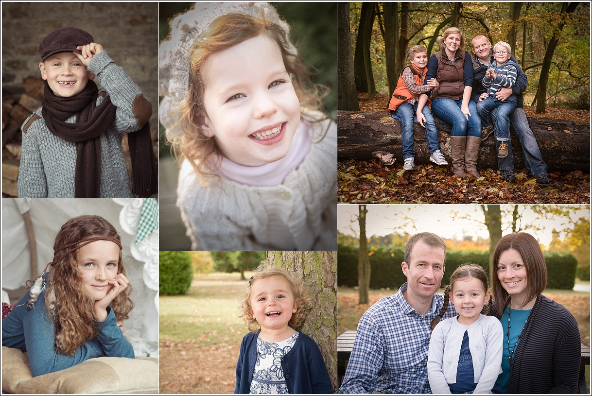 A collection of family portraiture