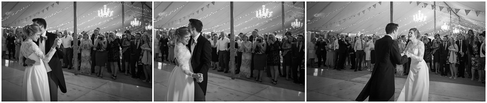 Black and white wedding photography. Bride and Groom first dance