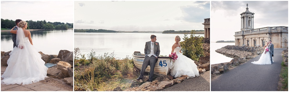 Natural wedding photography at Normanton Church, Rutland water
