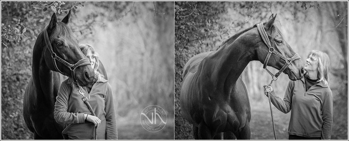Equine photography. Girl with her horse. Black and white photography
