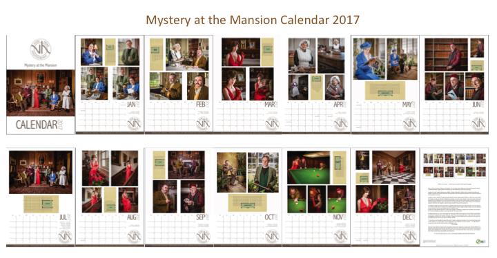 Cluedo inspired 2017 calendar